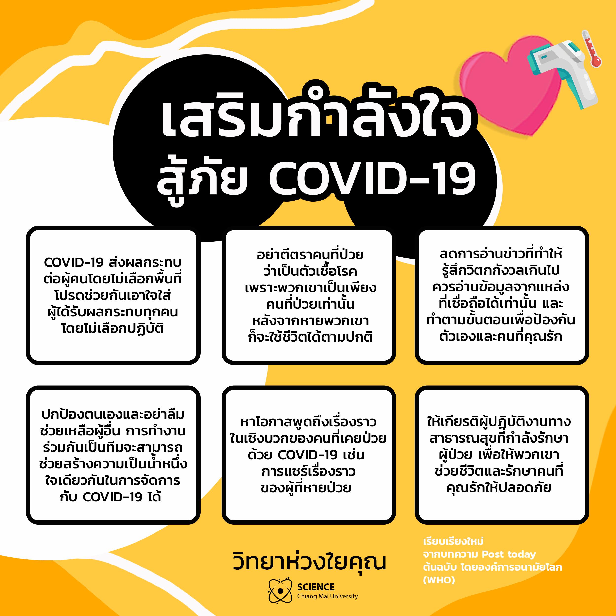 เสริมกำลังใจ สู้ภัย COVID-19